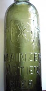 Bierflasche Mainzer Actien Bier