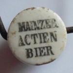 Porzellanverschluß Mainzer Actien Bier