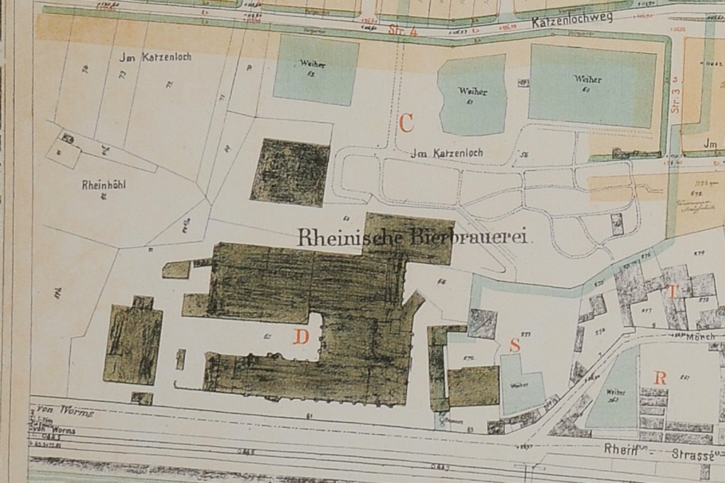 Lageplan der Rheinischen Brauerei © Repro GBV Weisenau B.Hof-Barocke
