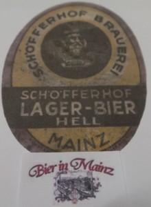Etikett Schöfferhof Lager Bier